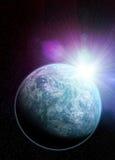 象最近被发现的行星的Kepler 20f地球 库存图片