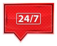 24/7象有薄雾的淡粉红色横幅按钮 向量例证