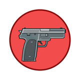 象枪保护武器 皇族释放例证