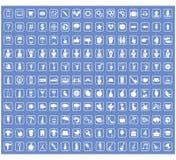 象标志和标志,传染媒介例证的汇集 免版税库存图片