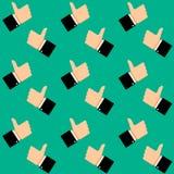 象标志无缝的样式 免版税库存照片