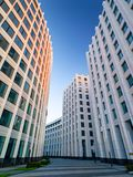 象样的莫斯科商业中心的建筑合奏 免版税库存照片