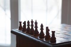 象棋移动 政治路线 免版税库存图片