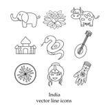 象汇集线的印度  库存图片