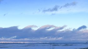 象波浪的天空 库存照片