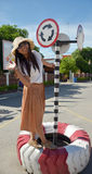 画象泰国妇女模型 免版税库存图片