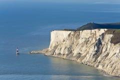 象海滨东部英国顶头灯塔苏克塞斯 免版税图库摄影