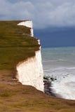 象海滨峭壁题头白色 免版税库存图片