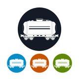 象火车坦克,传染媒介例证 图库摄影