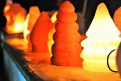 象灯的人工制品手工造做盐 库存照片