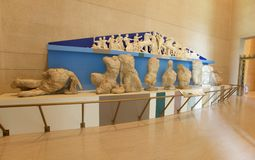 象牙希腊雕象在帕台农神庙博物馆,纳稀威TN 库存图片