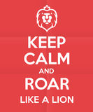 象狮子海报设计的吼声 库存图片