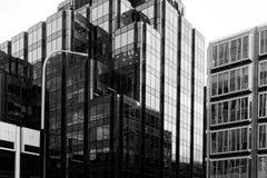 象现代城市建筑学的块 图库摄影