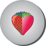 象用在猪圈绘的舱内甲板中的草莓 免版税图库摄影