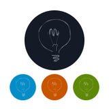 象电灯泡,传染媒介例证 免版税库存图片