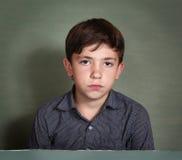 画象的男孩哀伤的关闭 免版税图库摄影