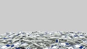 象社会媒介网络动画表面无光泽的阿尔法通道 向量例证