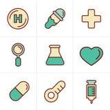 象称呼被设置的医疗象,传染媒介设计 库存照片