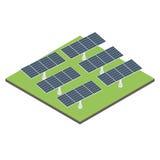 象等量太阳电池板 库存图片