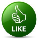 象绿色圆的按钮 免版税图库摄影