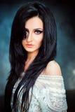 画象美丽的印地安女孩 库存图片