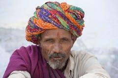 画象老人在印度 免版税库存图片