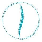 象脊椎 整形术的标志 骨科医师的商标 免版税库存照片