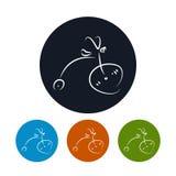 象自行车,传染媒介例证 免版税库存照片