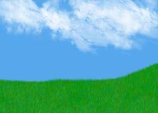 象草的小山 库存图片