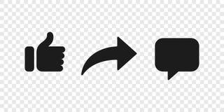 象评论象按钮社交通知的份额 皇族释放例证