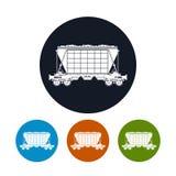 象运输货物的跳跃者汽车, 免版税库存照片