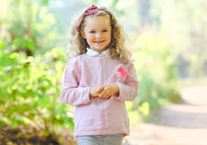 画象迷人的小女孩 库存图片