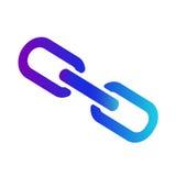 象链接或超链接 传染媒介互联网标志 库存图片