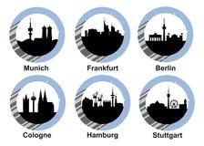 象集合德国城市 向量例证
