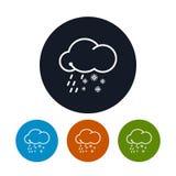 象雨夹雪,传染媒介例证 库存例证