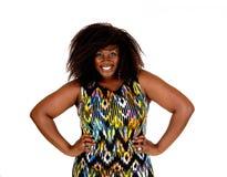 画象非洲妇女微笑 图库摄影