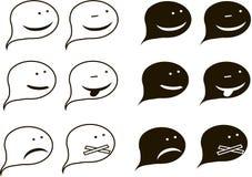 象黑白剪影对话框的,问题 库存照片