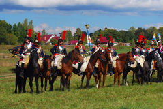 画象从第5个胸甲骑兵军团的胸甲骑兵 免版税图库摄影