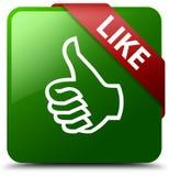 象绿色方形的按钮 免版税库存图片
