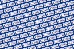 象Facebook商标墙壁2 免版税库存图片