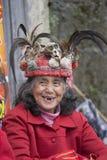 画象ifugao womanin Banaue,菲律宾 库存图片
