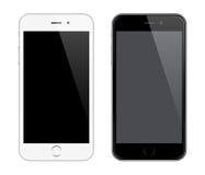 象Iphone设计样式的现实传染媒介手机大模型 免版税库存照片
