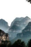 象moutain油漆洗涤的汉语 免版税库存图片