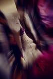 豪华人外套被弄脏的五颜六色的背景  免版税库存图片