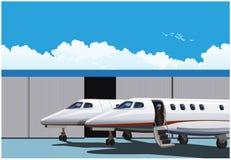 豪华企业喷气机 库存例证