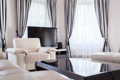 豪华住所的被设计的休息室 库存图片