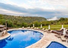 豪华假期在伊瓜苏瀑布附近的密林,阿根廷- 库存图片
