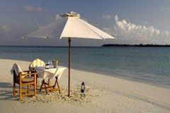 豪华假期-马尔代夫-印度洋 库存图片
