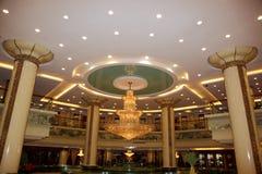 豪华全部大厅的旅馆 免版税库存照片