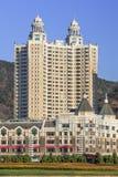 豪华公寓在大连星海广场,辽宁,中国 免版税库存图片